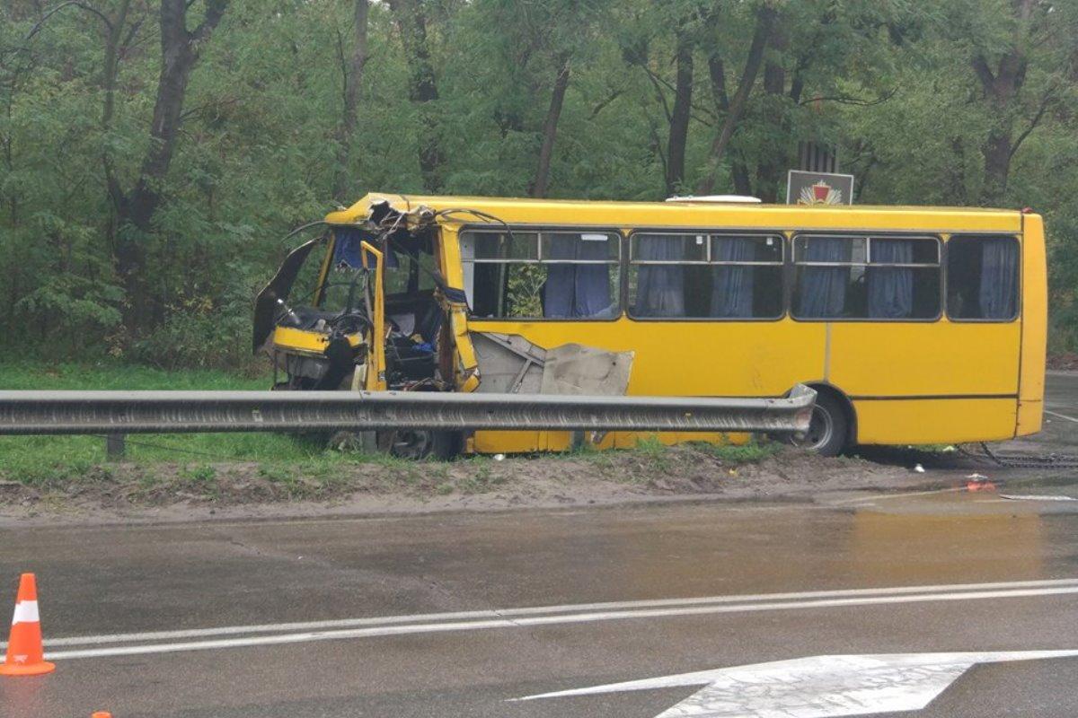 Под Киевом автобус Нацгвардии столкнулся смаршруткой, есть погибший