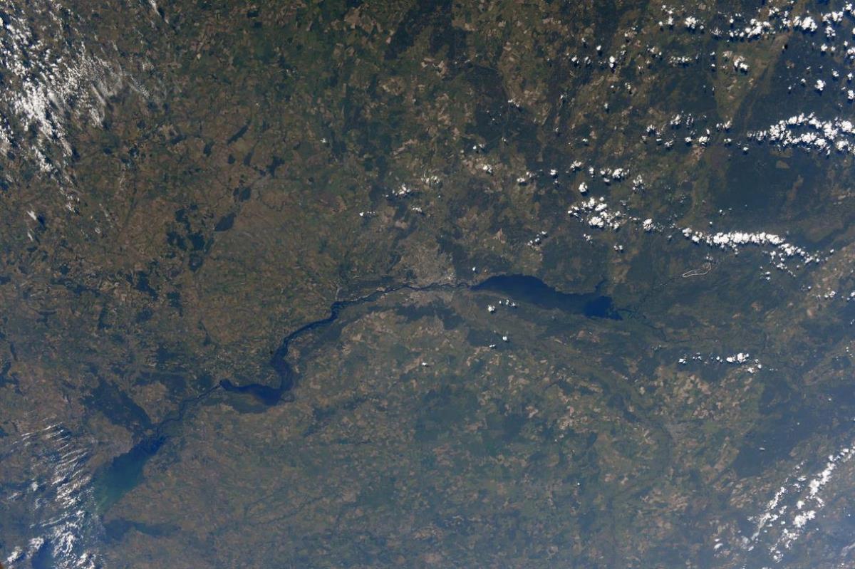 Вид на Киев из космоса