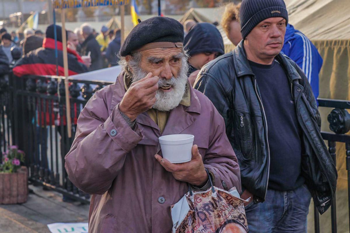 Завтрак митингующих