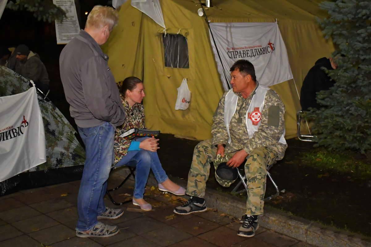 """В """"палаточном городке"""" своими силами организовали медпункт"""
