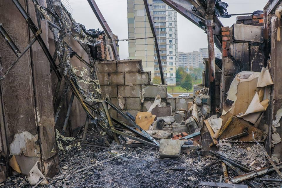 В доме полностью сгорел третий этаж