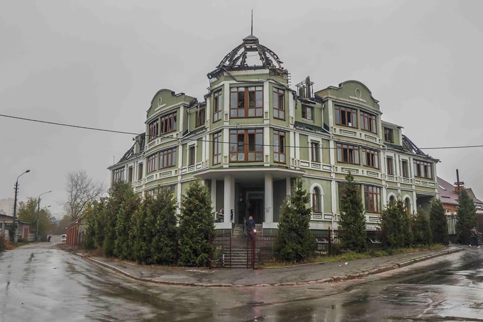 Жилой дом, в котором произошел пожар