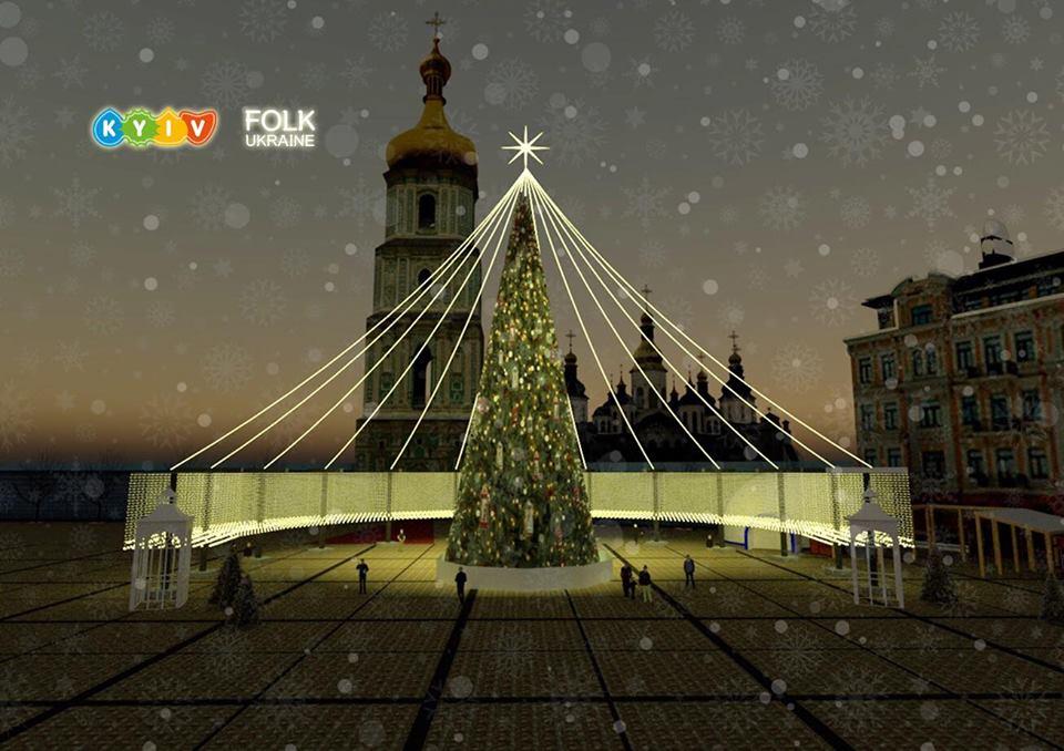 Главную елку страны украсят яркими фонариками