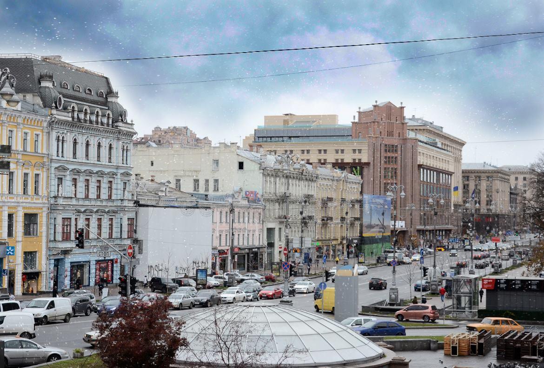 Снег в Киев шел недолго