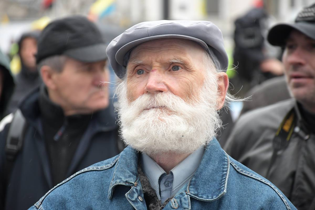 На митинг приехали люди со всей Украины