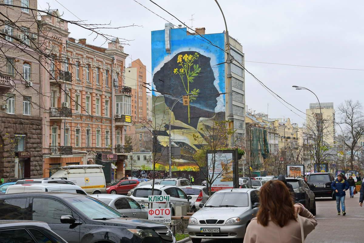 Новый мурал появился на улице Большая Васильковская