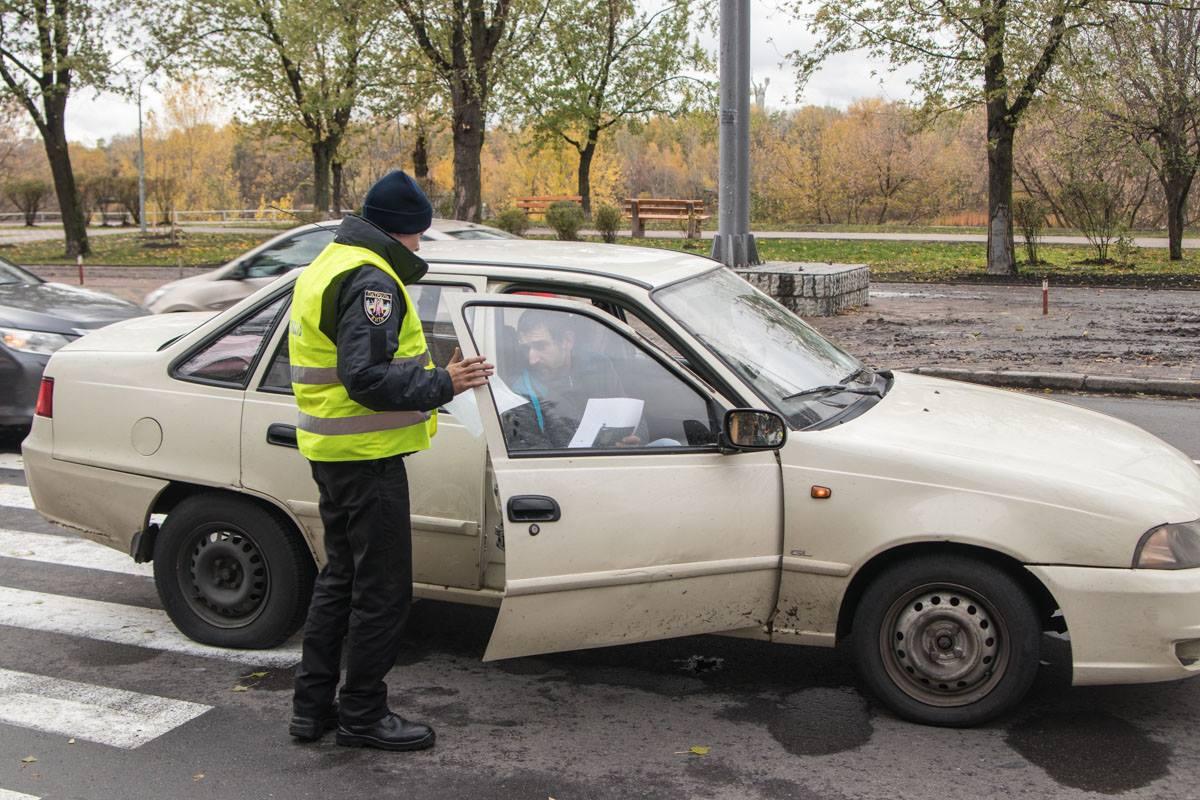 По словам полицейского, скорость автомобиля была незначительной
