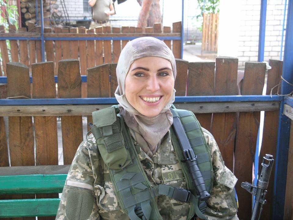 Амина Окуева в рядах ВСУ