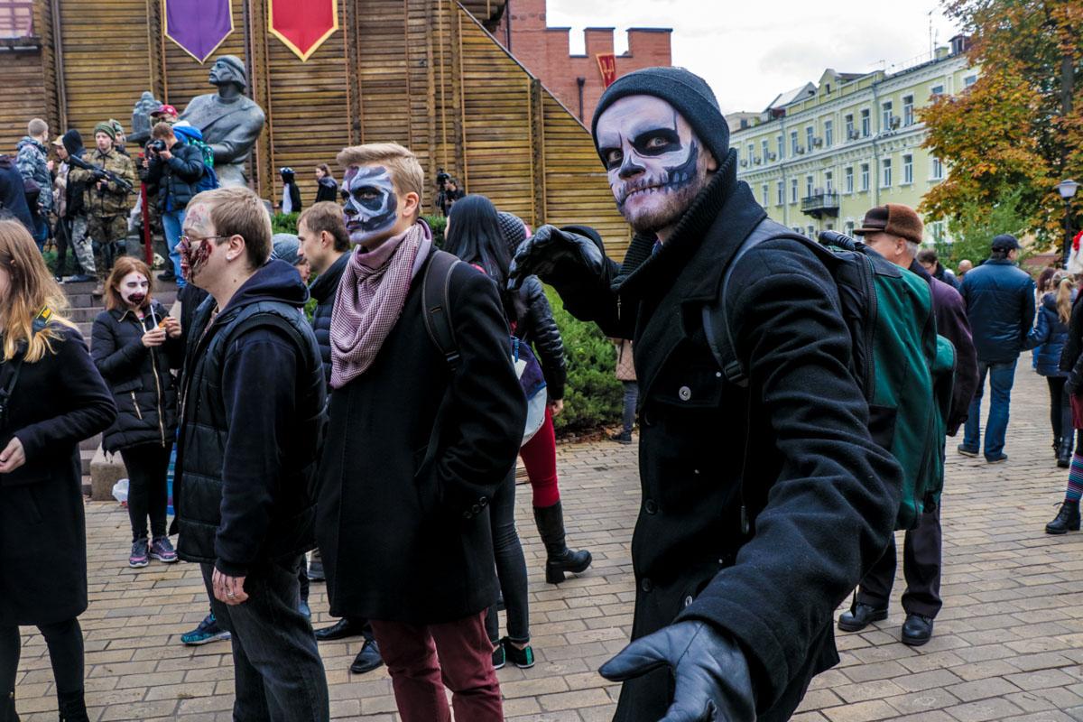 Образ зомби был самым популярным на параде
