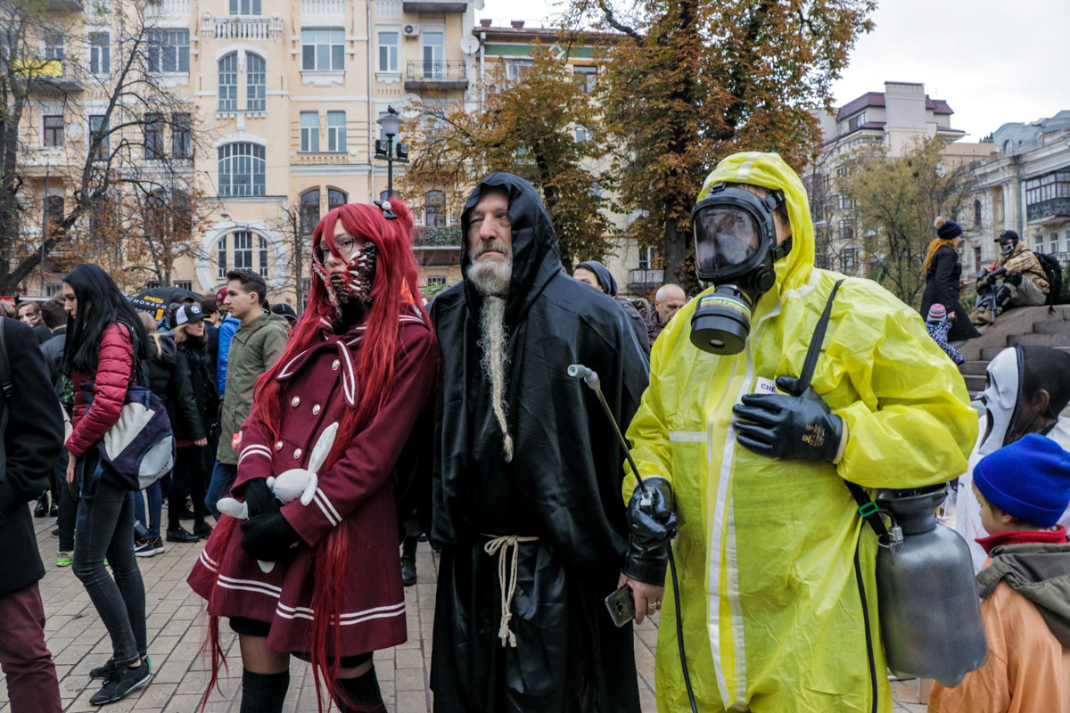 Самый взрослый участник зомби-парада