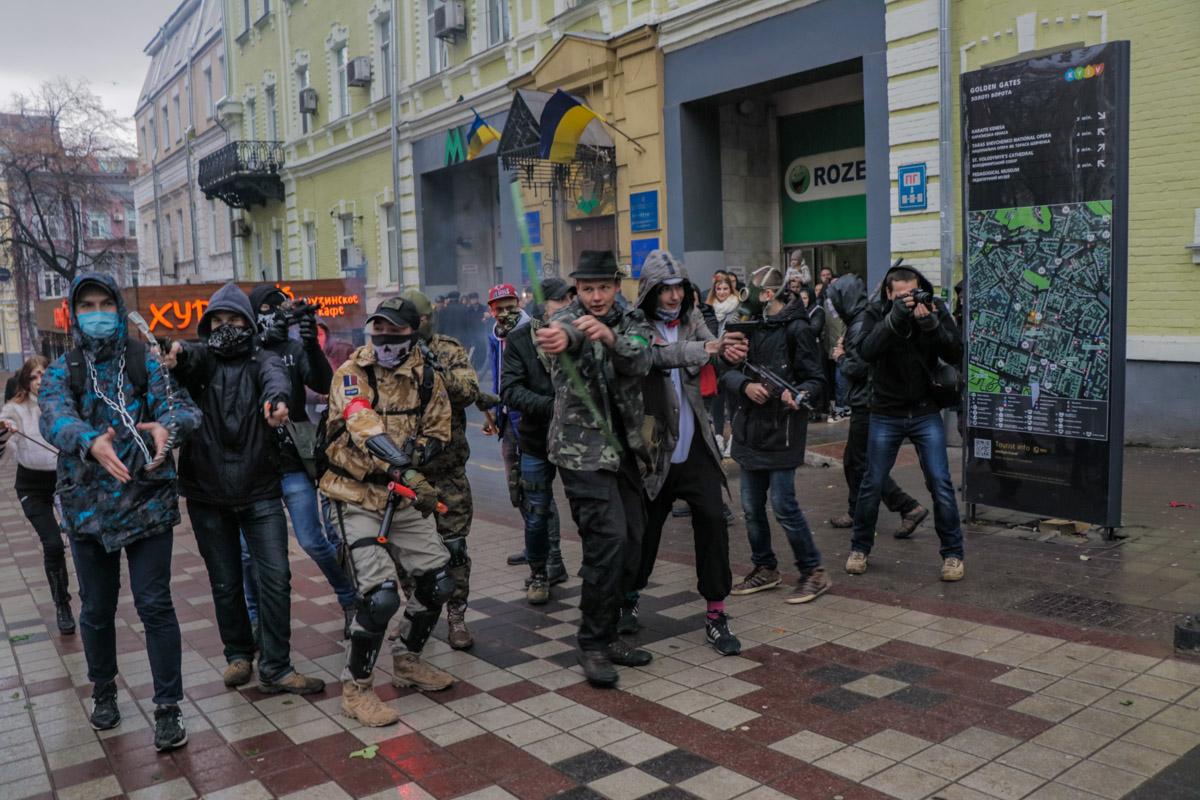 Парад зомби в честь Хэллоуина в Киеве