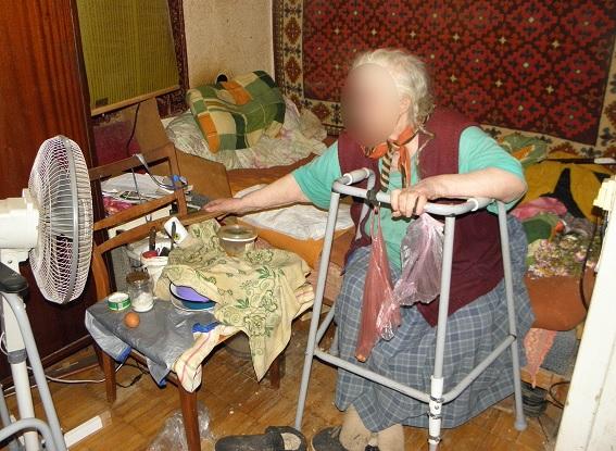 80-летняя старушка, которую побили из-за 300 гривен