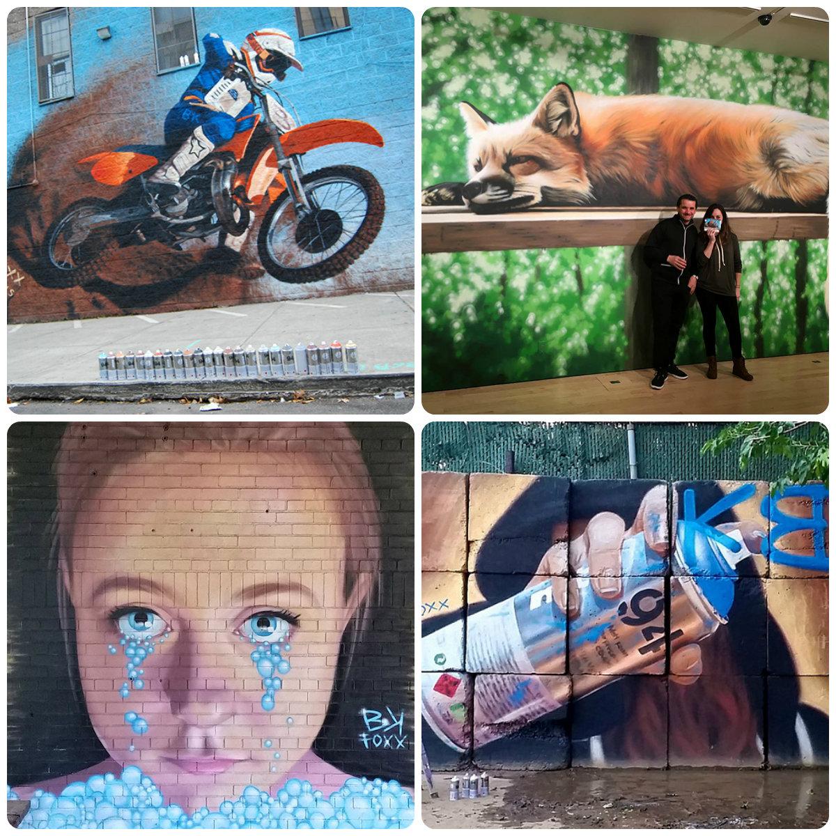 Работы художницы BKFoxx считаются одними из лучших в уличном изобразительном искусстве