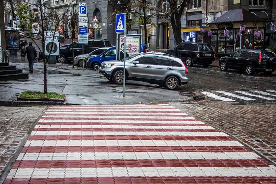Новый пешеходный переход в столице