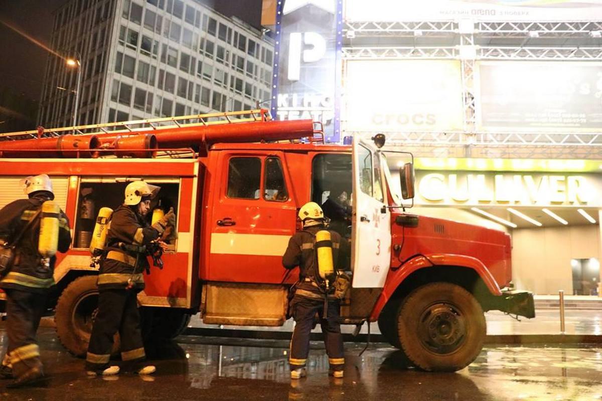 Пожарные быстро справились с условным огнем