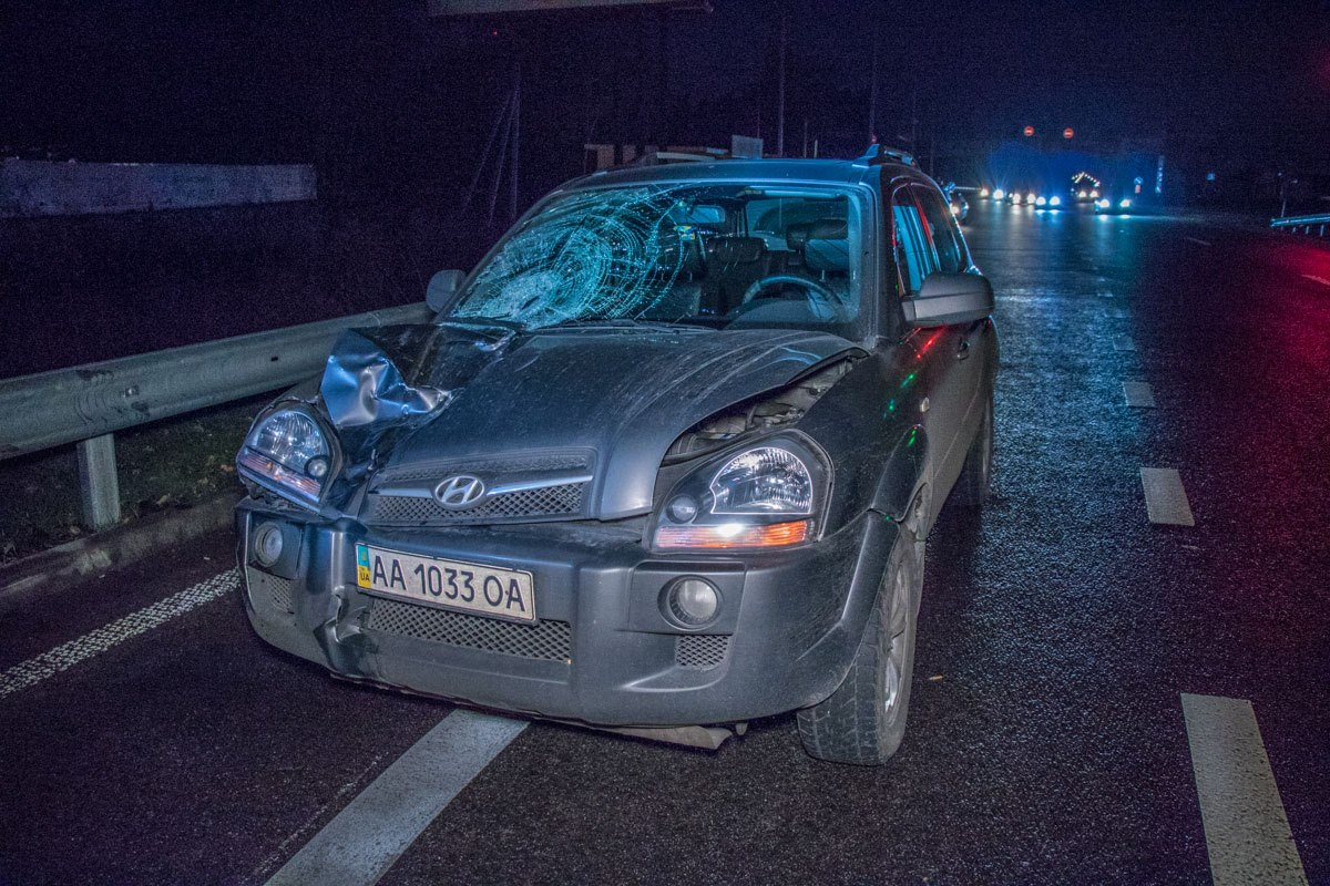 Автомобиль ехал в сторону Обухова