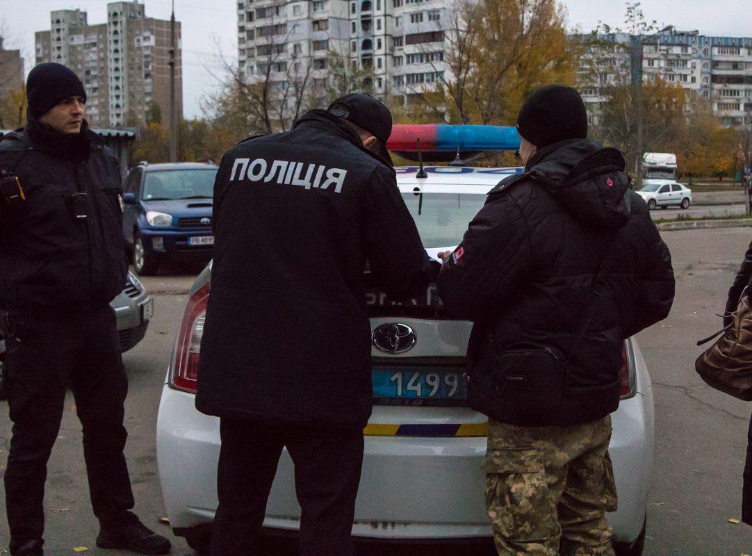 Полиция задержала хулигана возле районной прокуратуры