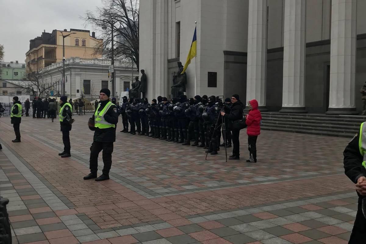 УРады проходит митинг приверженцев Саакашвили