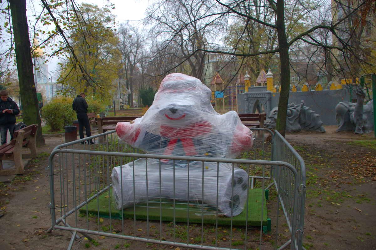 Скульптуры будут светиться во время новогодних праздников