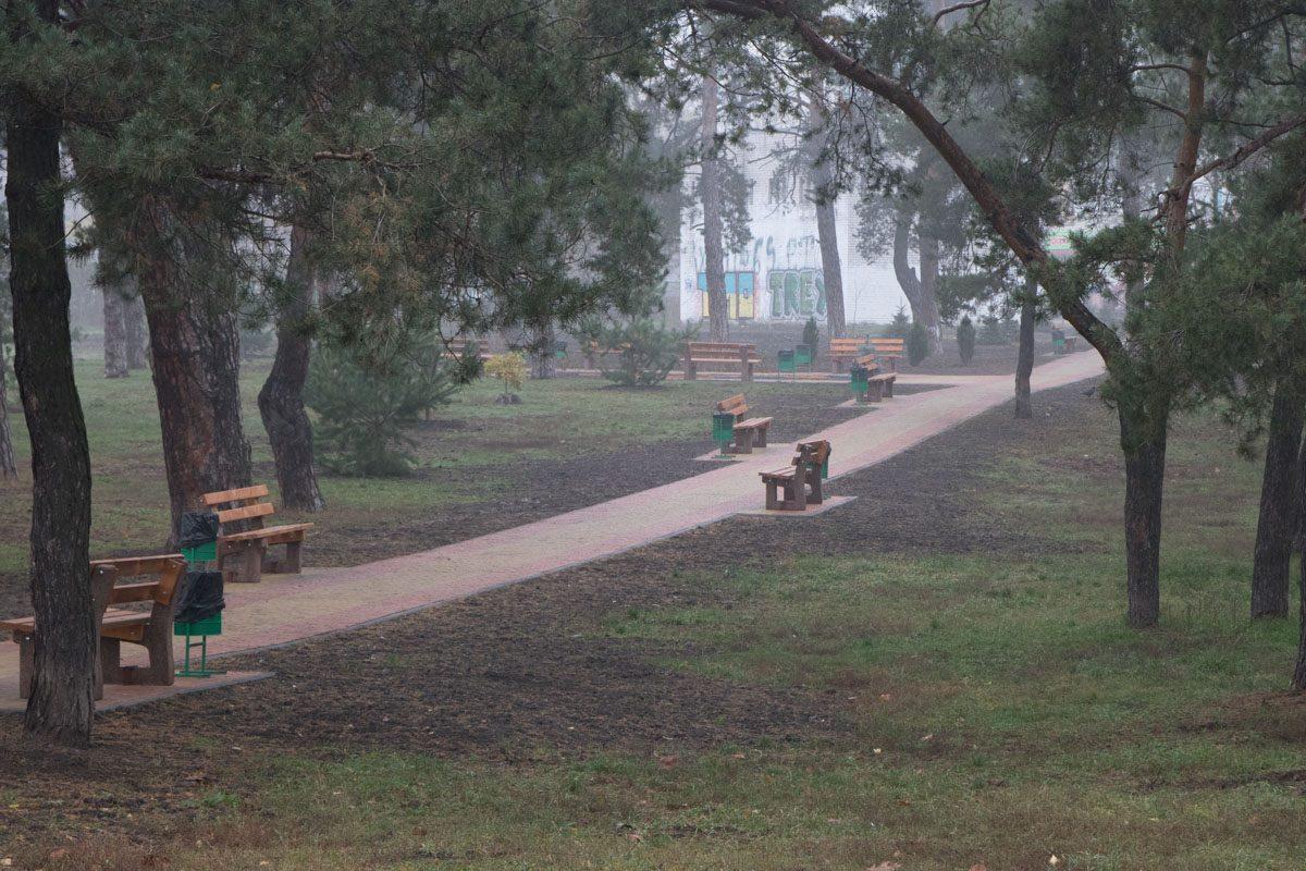 В парке парка не многолюдно