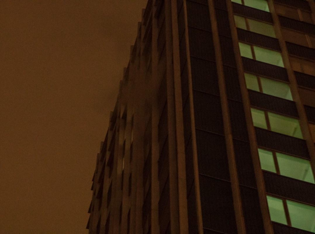 Задымление произошло на 14 этаже здания