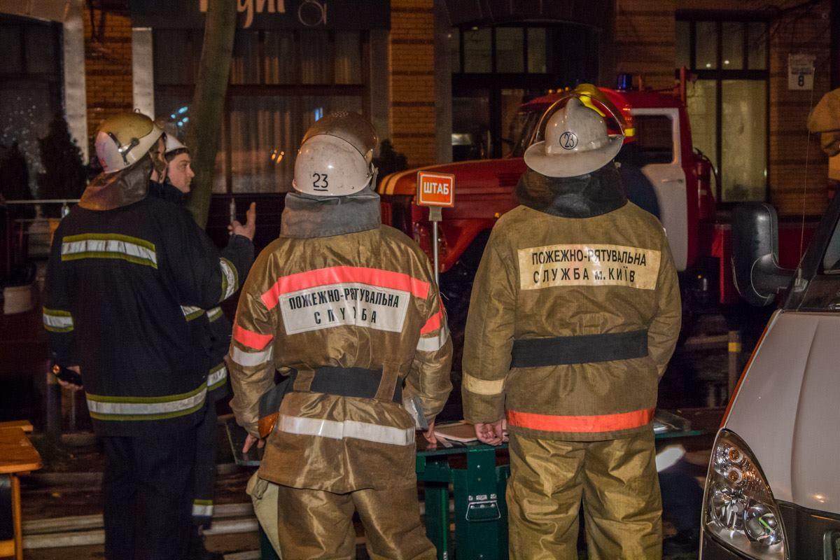 На месте возгорания даже организовали штаб для оперативного реагирования