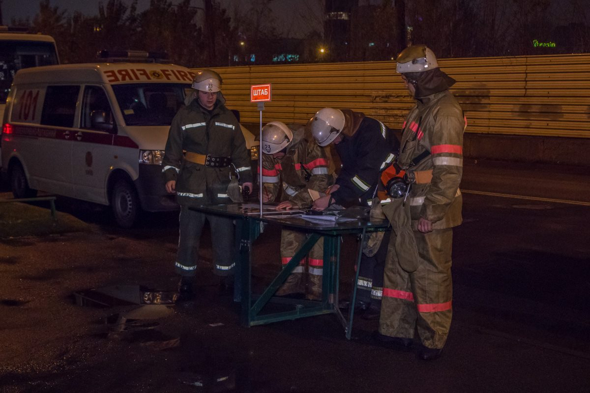 Штаб пожарных для оперативного реагирования на возгорание