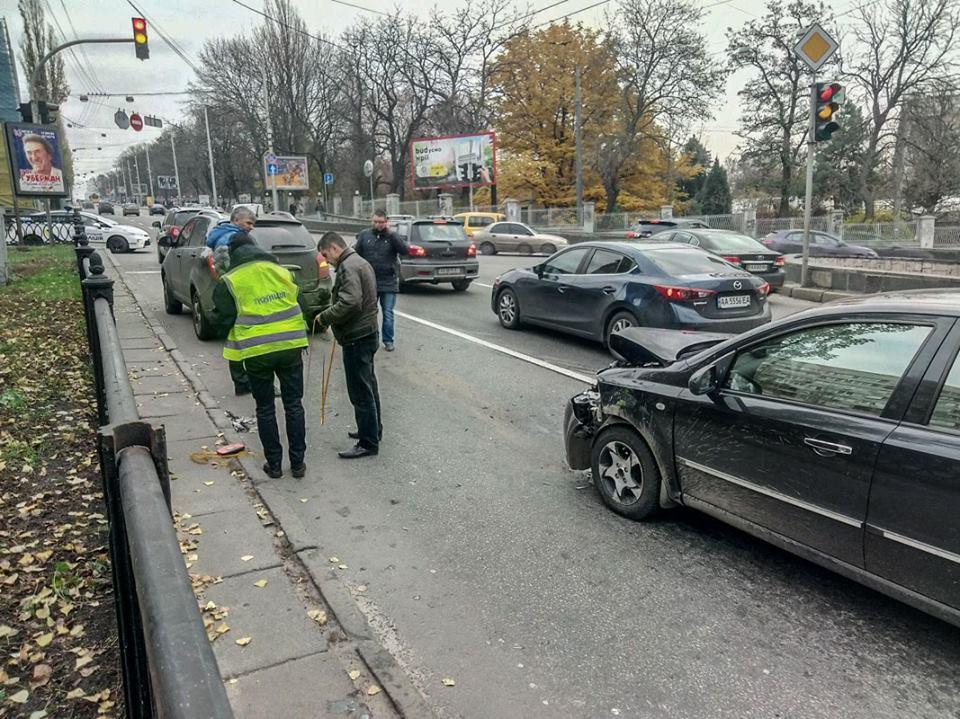 Двойное ДТП произошло на бульваре Тараса Шевченко