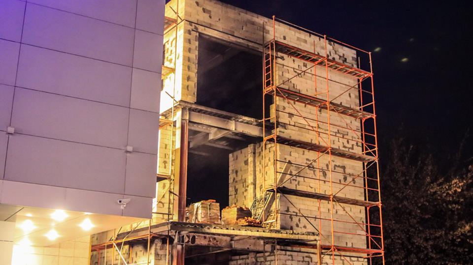 Дым было видно на проспекте Победы