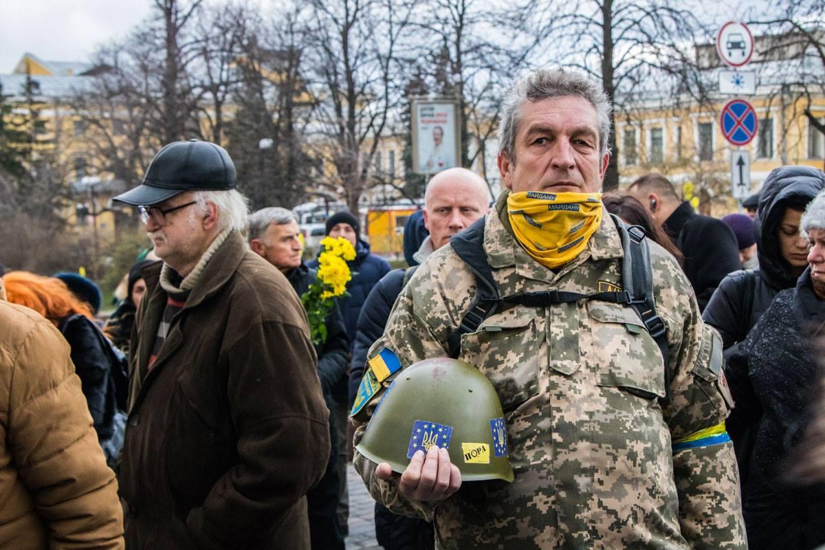 Почтить память погибших пришли участники Евромайдана
