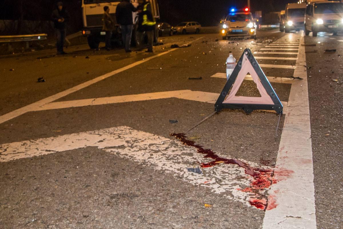 Кровь пострадавшего водителя
