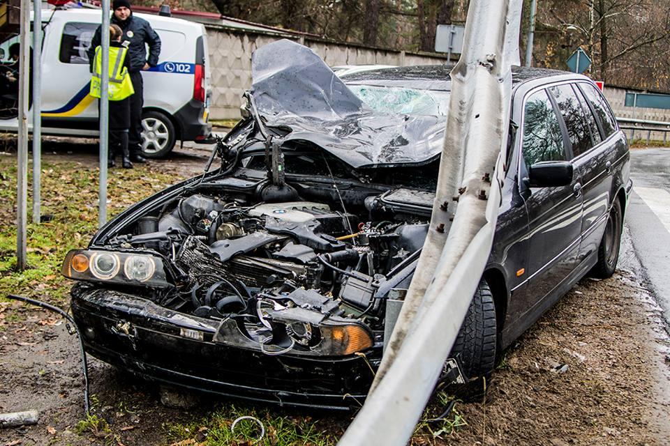 То, что осталось от BMW после аварии