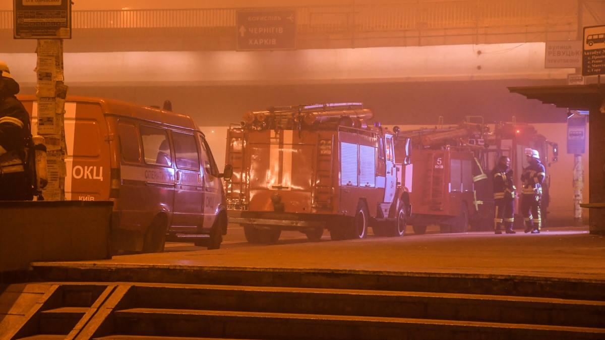 Ликвидацию огня отрабатывали на станции метро Харьковская
