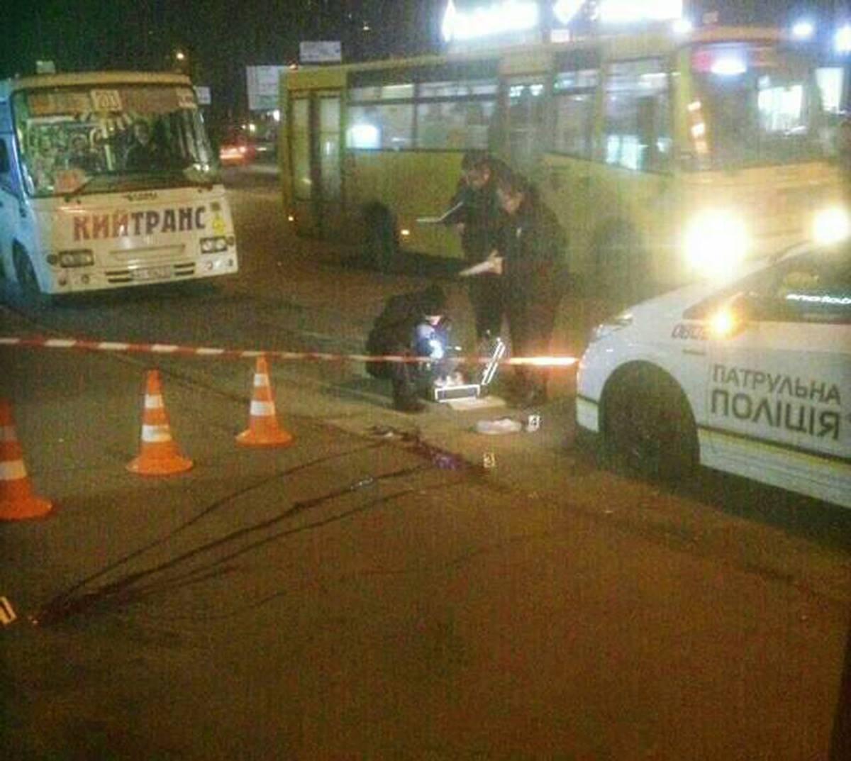 ВКиеве мужчина застрелился наостановке наглазах упрохожих