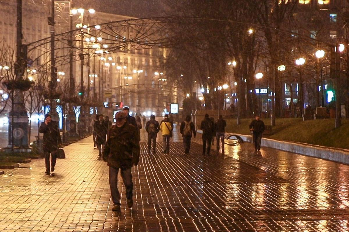 В Киеве даже непогода выглядит романтично