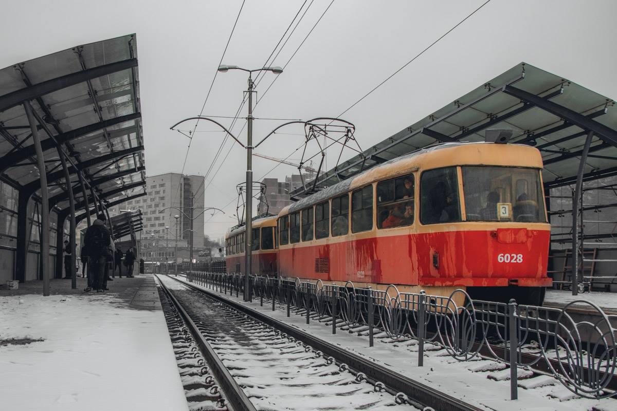 Зимние столичные трамваи