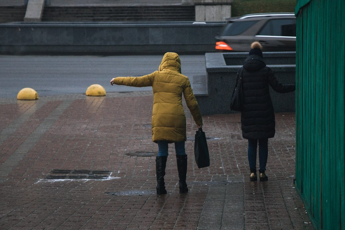 Киевлянам сложно передвигаться по городу
