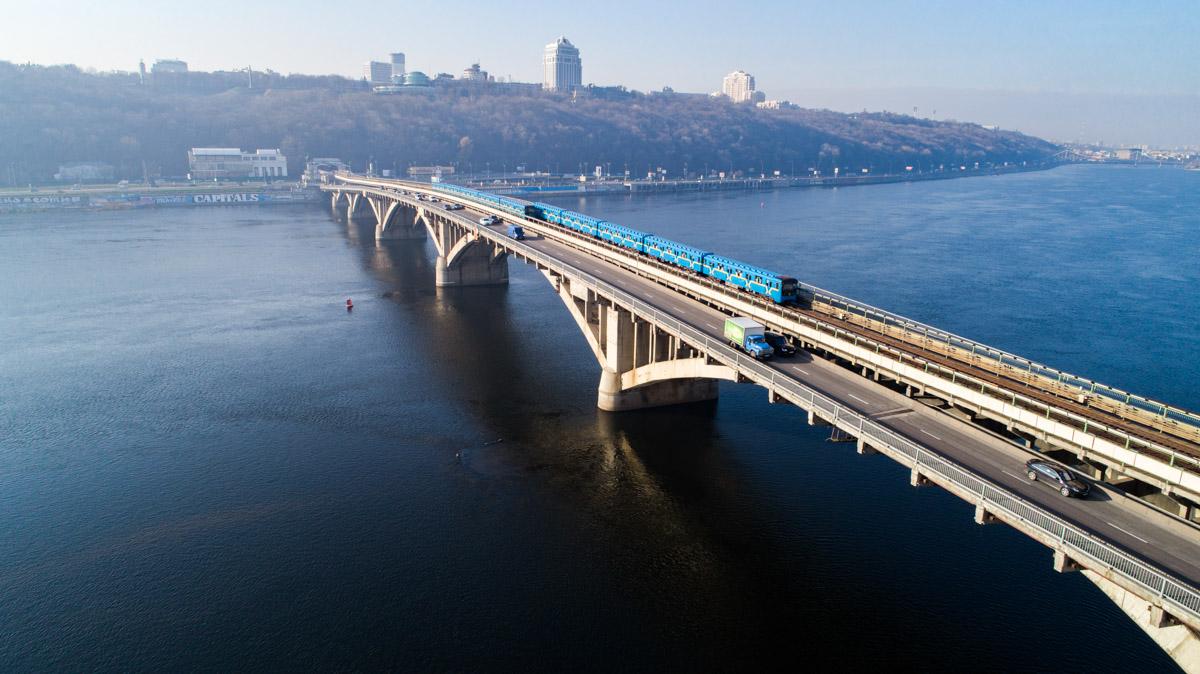 Мост Метро через Днепр двухярусный