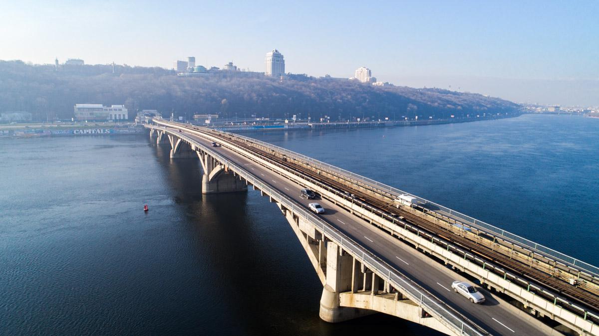 Вид с левого берега Киева