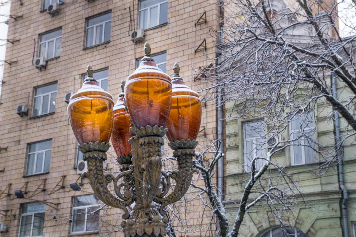 В Киеве почти весь день шел снег