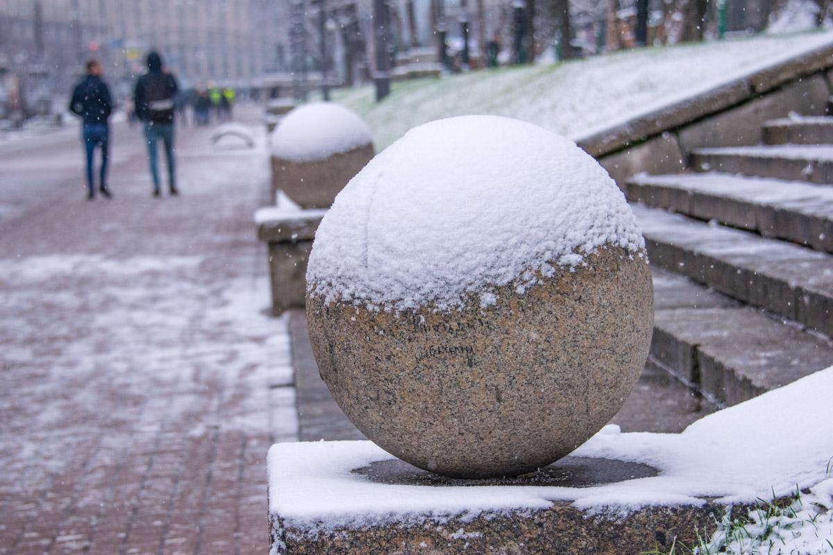 Снег - это кокосовая стружка, а земля большая рафаэлка