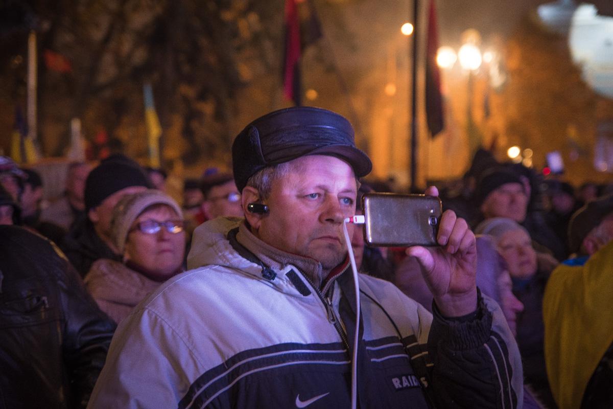 Многие снимали речь экс-губернатора Одессы на телефон