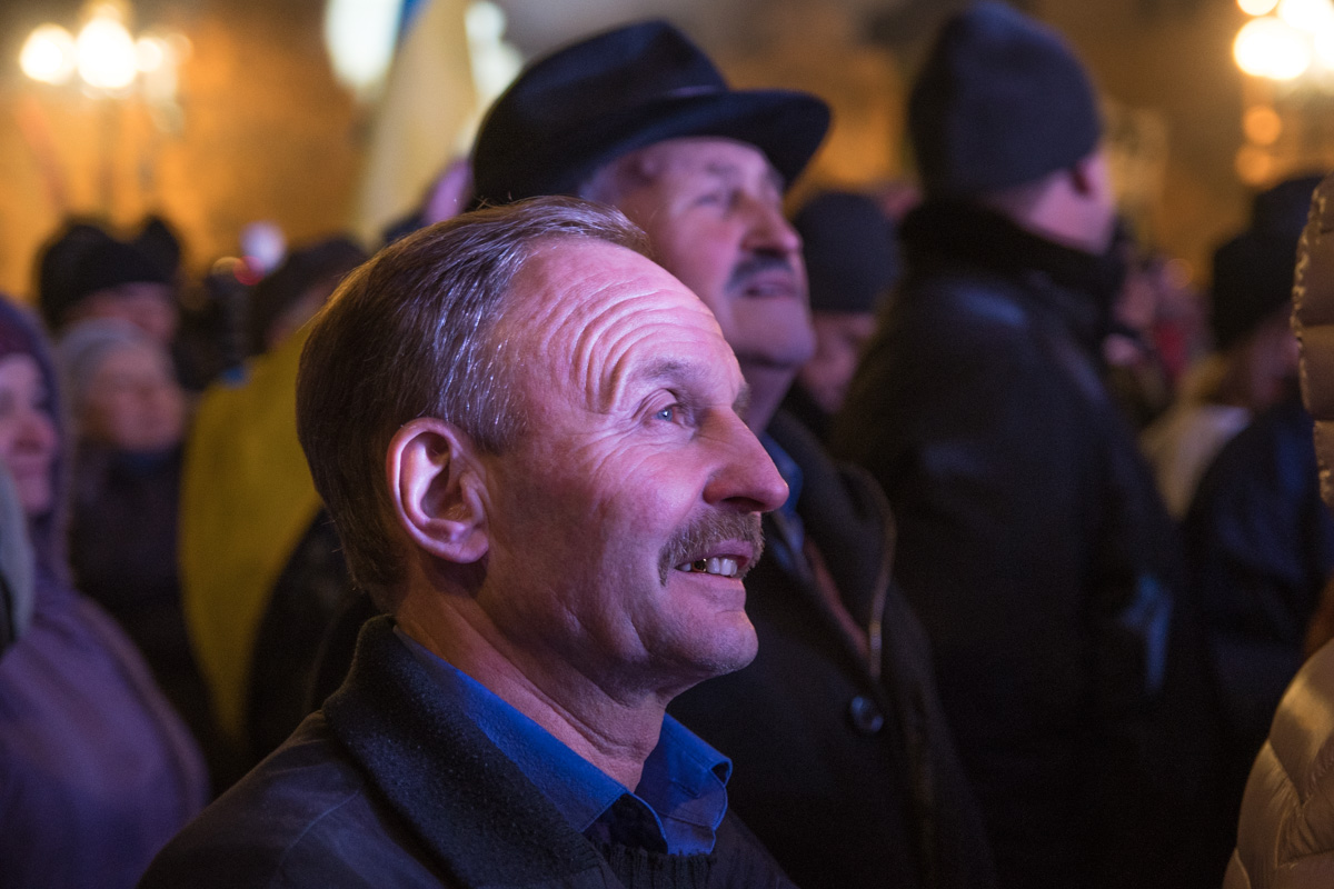 Сразу после выступления Саакашвили, народ стал расходиться