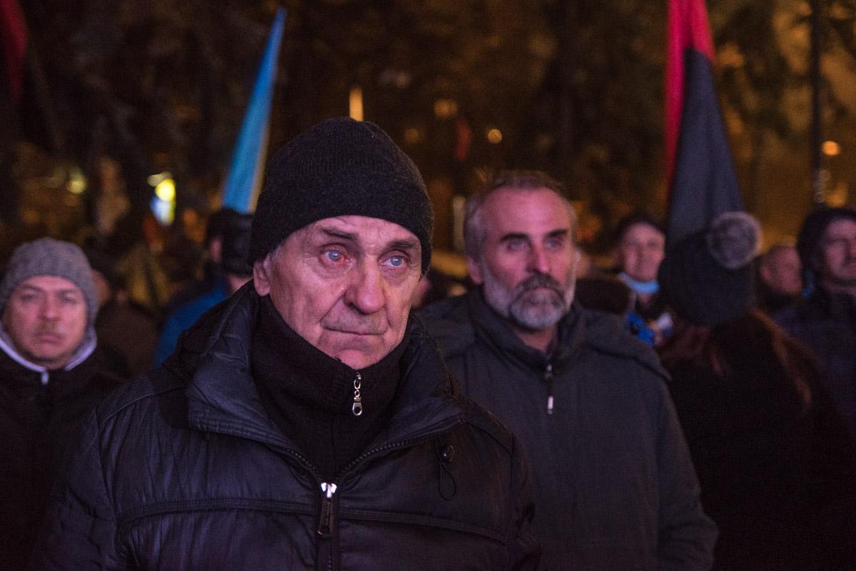 Основной контингент митинга - люди пенсионного возраста
