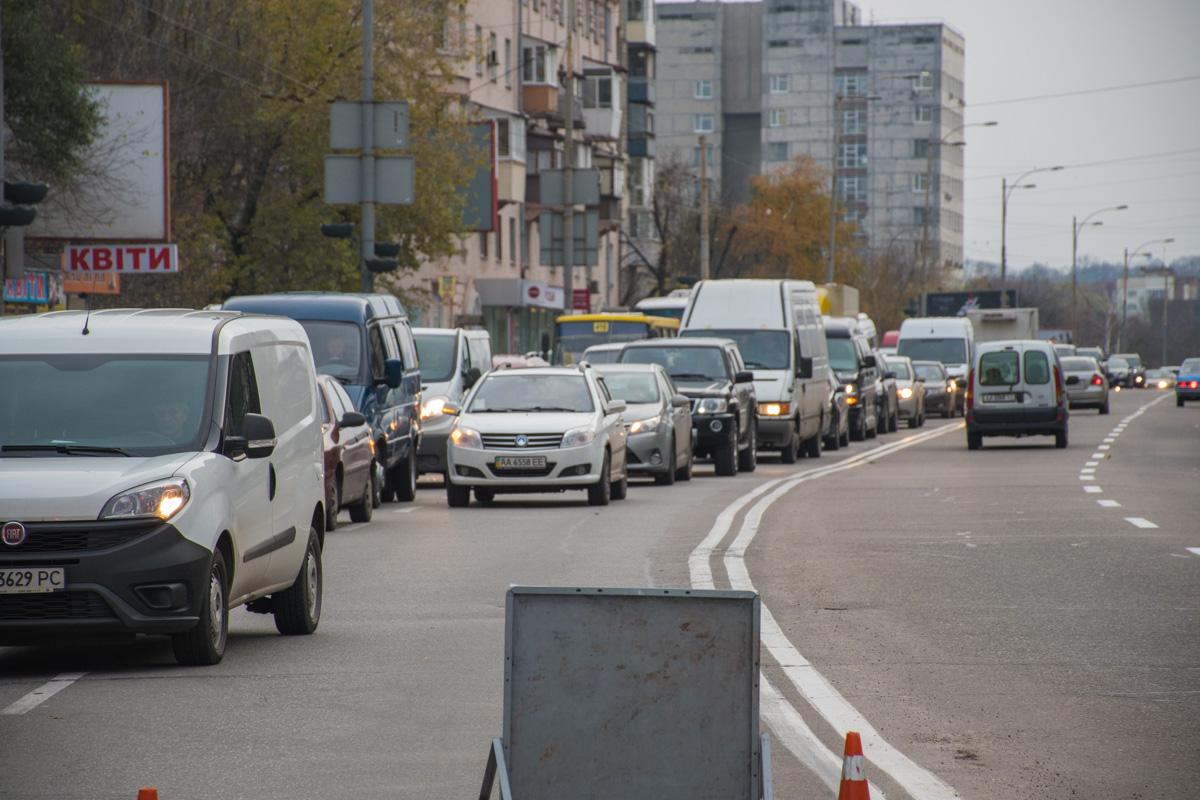 Из-за ДТП на Голосеевском проспекте образовалась пробка