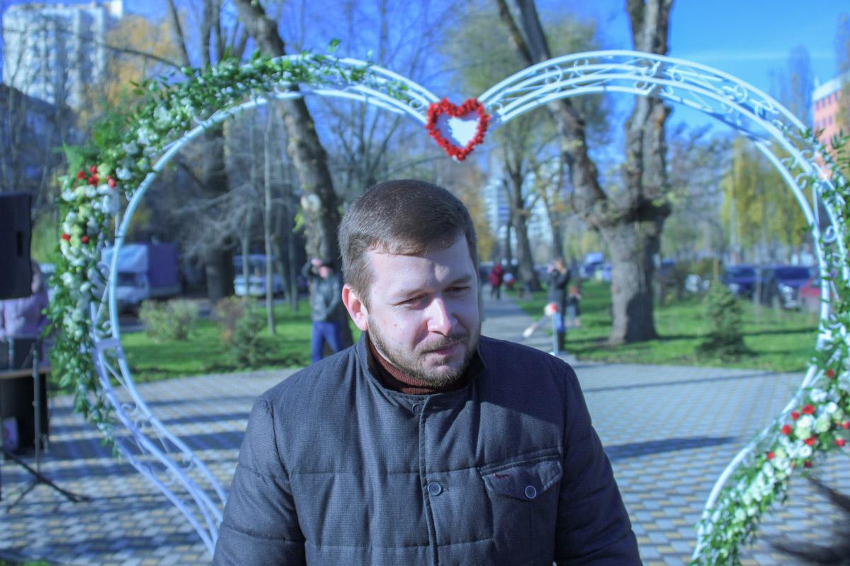 """На открытии присутствовал глава """"Киевзеленбуда"""" Михаил Наконечный"""