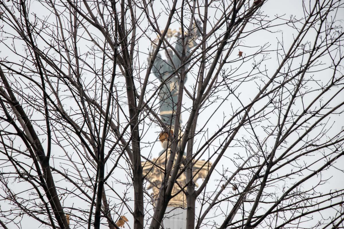Киев окутала настоящая осень, деревья больше не украшают листья