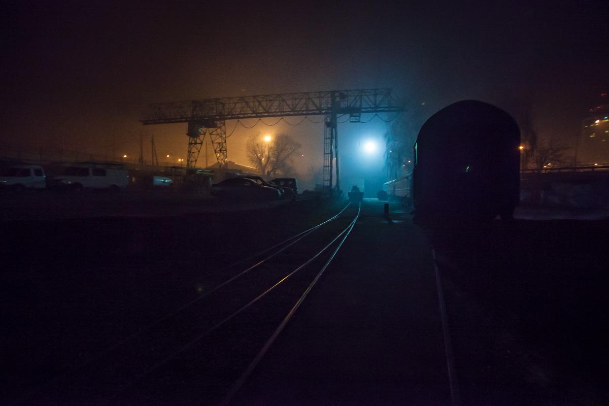 Возможно запах пошел с ж/д вокзала, где отапливают вагоны