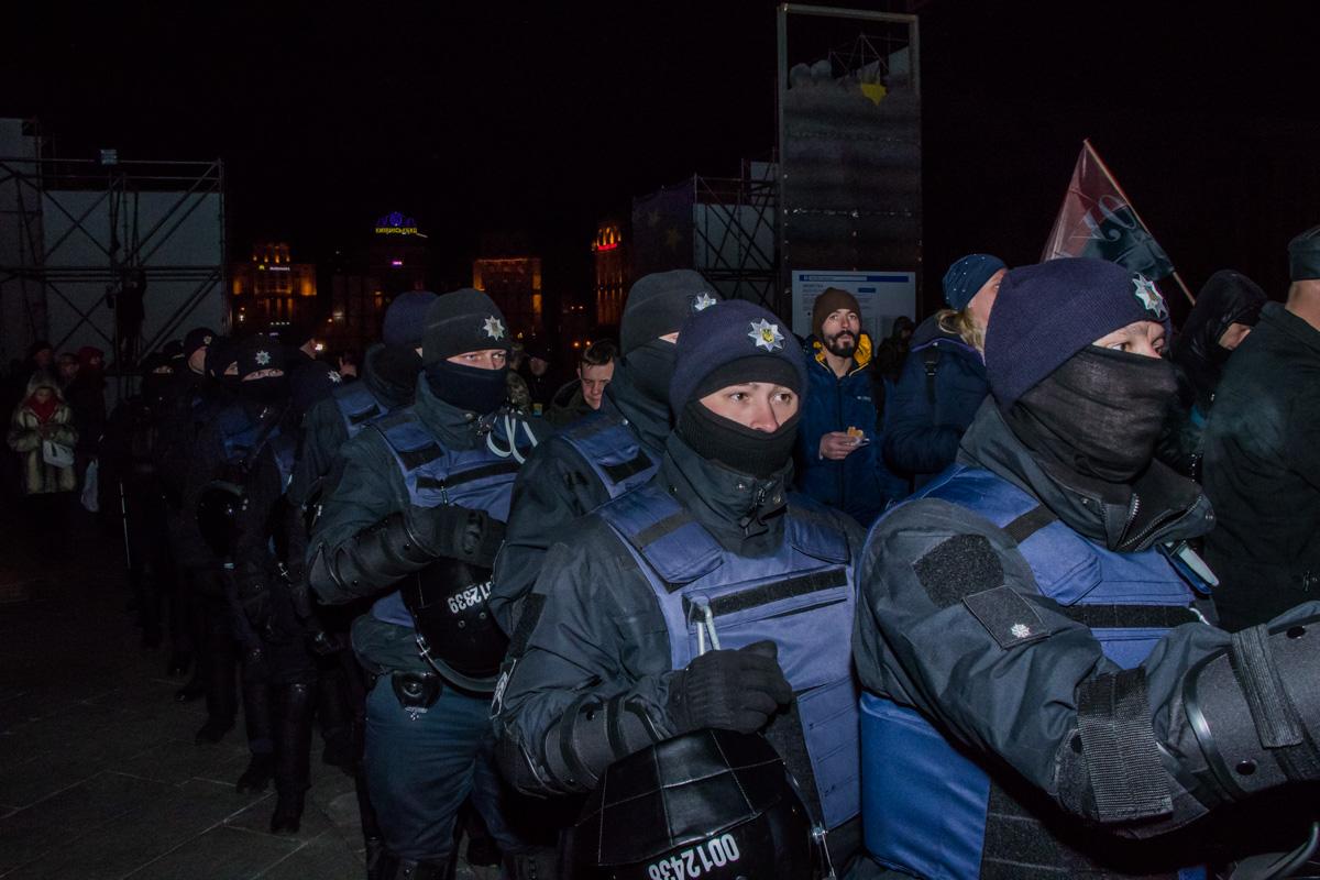 На Майдане Незалежности много полиции