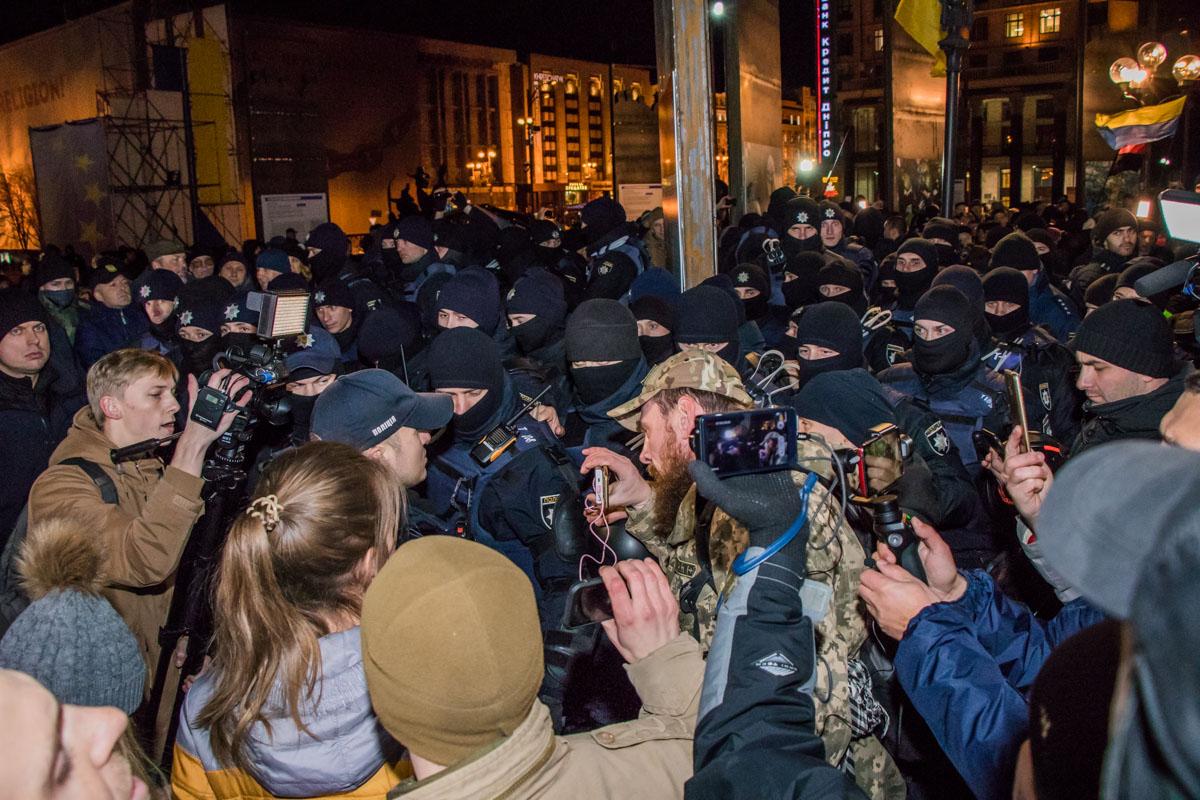 Митингующие не собираются покидать Майдан Незалежности